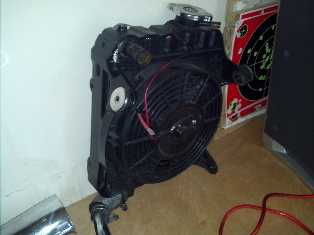 CX500 radiator /w sensor and electric fan mod